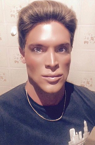 """Pic shows: Mauricio Galdi is the new human Ken. A new real-life Ken doll has appeared on the scene just one year after the old one died - and he is also Brazilian. Last June, Celso Santebanes, 20, who spent 30,000 GBP on surgery to turn himself into a human version of Barbie's boyfriend died after losing a five month battle with leukaemia. He started his transformation into manufacturer Mattel's iconic toy after winning a modelling contest at the age of 16 and was catapulted to fame after being spotted by a talk show in his native Sao Paulo. Now arch-rival Maurico Galdi, 27, has stepped into his shoes. The two had a falling out after Galdi posted a photo on his Instagram profile of himself holding a poster declaring he was the the real human Ken. Santebanes, who was then seriously ill, had reacted angrily accusing Galdi of being """"an opportunist"""". Santebanes posted: """"Shut up, fool, you do not have even a little respect, I know you posted the picture to offend me."""" """"It is very ugly and false. He believes that if he has blue eyes and make up he is the new Ken, but he is an opportunist."""" He also threatened to take Galdi to court and compared him to Michael Jackson. But the pair later made up on a TV show. Now Galdi has taken over as the new human Ken after a survey carried out in Brazil voted him the most popular. Galdi, who is the son of a film distributor and a housewife from a middle-class neighbourhood of Sao Paulo, in east Brazil, said he always envied girls at school. He said: """"I saw them playing with dolls and I wanted to do the same, but I never did for fear of prejudice."""" When he was 17 he began acting classes at a local drama school where he realised he wasn't considered beautiful. So he started having plastic surgery, starting with his nose. He said he also had polymethylmethacrylate put in several parts of his body to fill them out and make him more round and smooth. He said: """"I never sought to be the Brazilian human Ken. """"It was something that came to me, t"""