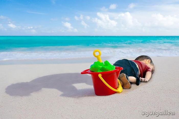 Niño en la playa 16