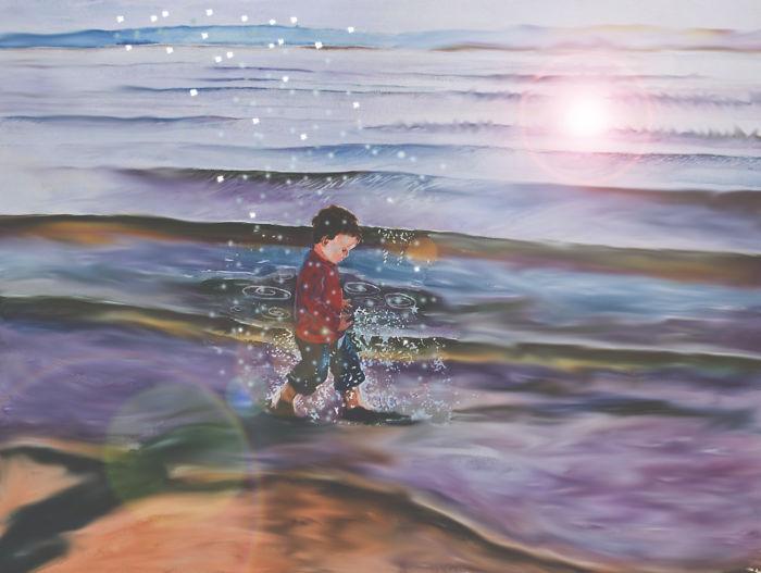 Niño en la playa 21