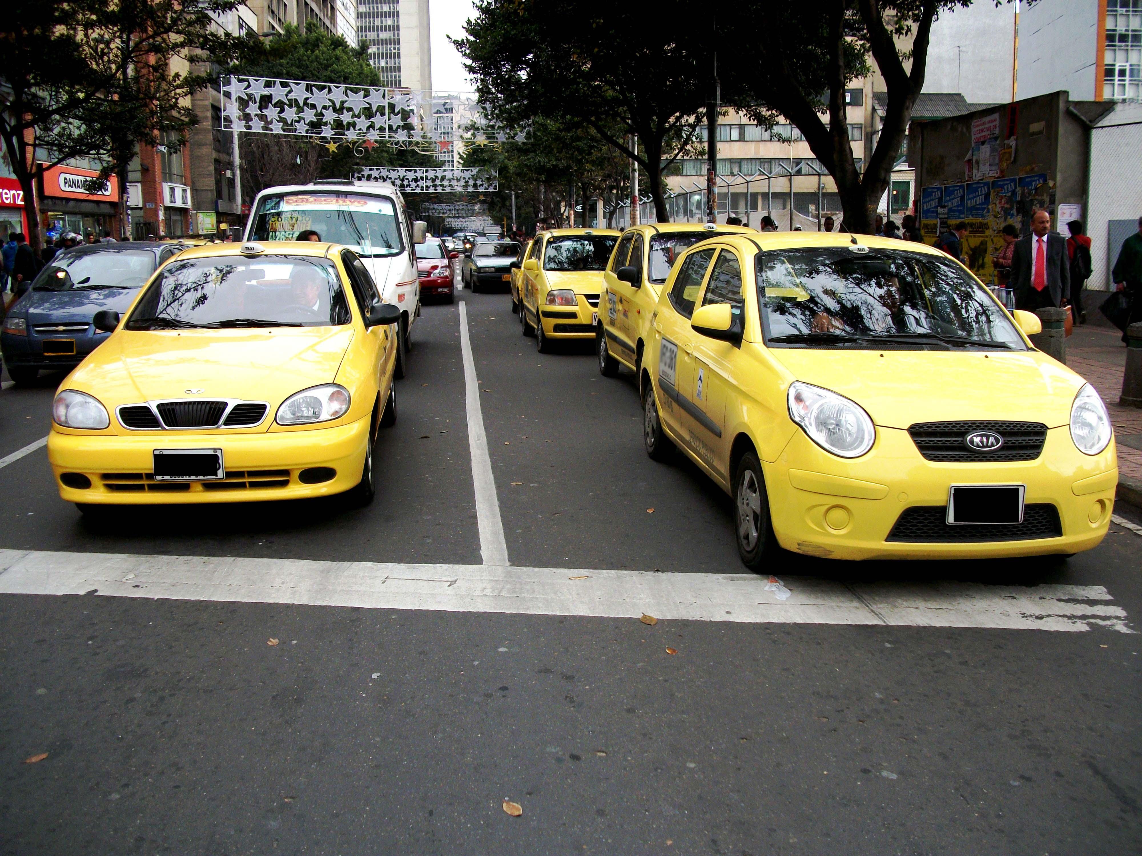 Taxis_en_bogota