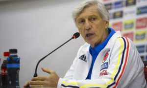 Colombia's coach Jose Pekerman speaks during a press conference in Barranquilla, Colombia on March 28, 2016, on the eve of their FIFA World Cup Russia 2018 qualifier football match against Ecuador. AFP PHOTO/Raul ARBOLEDA / AFP PHOTO / RAUL ARBOLEDA